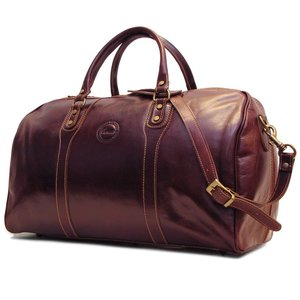 Cenzo Brown Italian Leather Duffle Bag